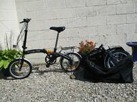 pair of folding bicycles