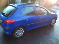 CHEAP DIESEL PEUGEOT 206 1.9d motd and taxed may p/ex swap