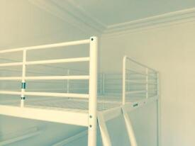 IKEA Loft bed frame ( perfect condition ) plus a single mattress