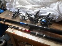 ASSORTED RODS AND REELS