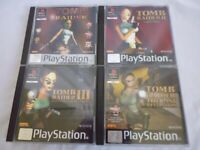 TOMB RAIDER COMPLETE PS1 BUNDLE OF 4 GAMES SONY PLAYSTATION 1 TESTED (B3)