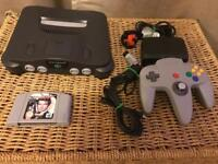 Nintendo 64 console and goldeneye 007 game. N64