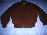 Armani brown leather jacket, size medium