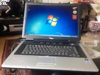 "FUJITSU SEIMENS 17"" LAPTOP WINDOWS 7 PRO OFFICE 2010 GREAT CONDITION."