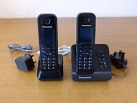 PANASONIC KX-TG8161E TWIN CORDLESS PHONE WITH ANSWERING MACHINE
