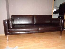 Leather Ikea sofa