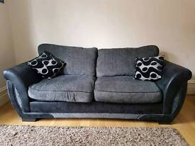 DFS 3 seat sofa bed with 2 cushions.