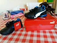 Boys Puma black and blue trainers size C10 Brand new with tags