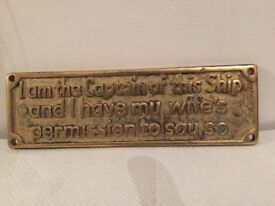 Amusing vintage bronze wall plaque