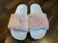 ASOS Fluffy Pink Sandals For Sale