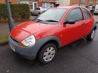 FORD KA 1,3 RED 2005 54 REG VERY LOW MILES LONG MOT DRIVES EXCELLENT BARGAIN