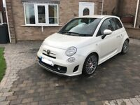 Fiat abarth 500 1012 in pearl white low miles