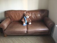 Leather Sofa - 75x38x33ins Buyer collect seller unable to lift. Must be gone by 2nd October.