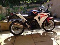 Honda CBR250RA 250cc Motorbike 2012 - with Akrapovic exhaust - low milage - new MOT