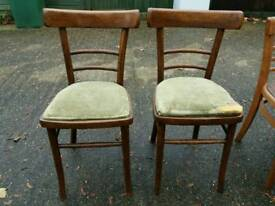 2 RETRO CHAIRS WITH SEAT PADS CAN DELIVER LOCALLY