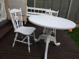 Gorgeous solid wood table & 2 chairs