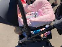 Maxi cosi car seat and cosy toes