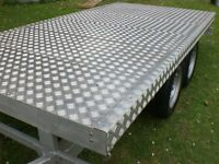 flat bed trailer,car trailer,twin axle trailer,four wheel trailer