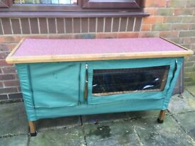 Lazy Bones Rabbit Hutch and Cover