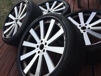 24 inch wheels original Bentley, Range Rover 5x120 VW, BMW alloys + tyres