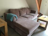 Large 3 seater corner sofa and cuddle chair