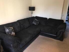 Black L shape couch