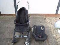 Silver Cross Travel System, Pram, Pushchair and car seat