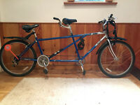 """Tandem Phillips Duo 26"""" wheels 21 gears 53cm frame size"""