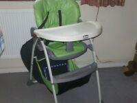 chicco high chair in good condition in coulsdon surrey