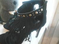 studded and fringed stiletto shoes new