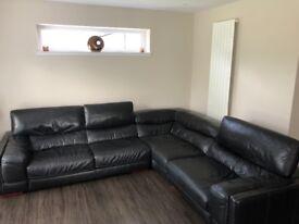 Leather Corner Sofa 3mX2.7m Excellent Condition, Non Smoking Household