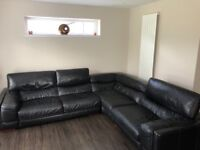Leather Corner Sofa 3mX2.7m Excellent Condition, Non Smoking Household