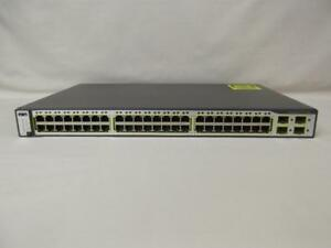 Cisco Catalyst 3750G Managed Switch - (48) 10/100/1000 Gigabit Ports - (4) SFP Ports - WS-C3750G-48TS-S
