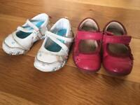 Baby girl shoes Skechers & Clarks sizes 3 and 3.5