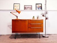 Vintage G Plan Style Danish Design Mid Century Medium Teak Retro Compact Sideboard