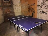 table tennis table barely used good quality full size table