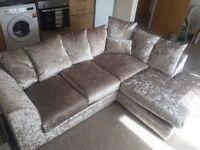 Mink Velvet Corner Sofa