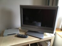 Toshiba television and digital freeview box.