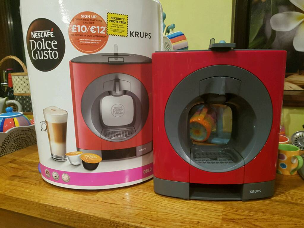 krups oblo dolce gusto coffee machine in clydach. Black Bedroom Furniture Sets. Home Design Ideas