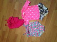 Three toddler bathing suits
