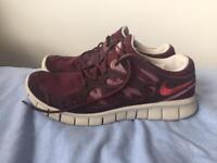 Nike free run 2 trainers UK8 purple/burgundy