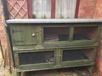 Rabbit Guinea Pig Hutch custom made