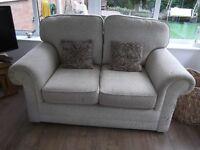 2 seater sofa, matching medium size footstool