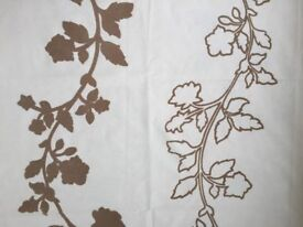 Cream fabric with beige leaf design ideal for soft furnishings