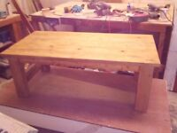 Solid American Pine Coffee Table