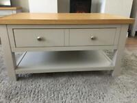 Farrow Gray Shaker Style Coffee Table. Lots of Storage.