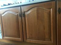 Oak kitchen cupboard doors. John Lewis mini fridge. Hotpoint tumble dryer