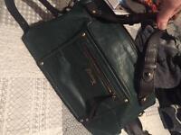 Avantgarde Mantaray Green leather bowler bag