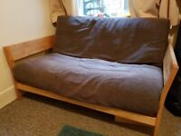 Used, 2 Seater Futon Company Sofa Bed. Solid Oak for sale  Muswell Hill, London