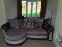 3 seater sofa and swivel chair only 9 months old
